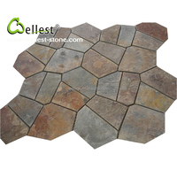 Cheapest China Rustic Natural Slate Flag Stone for Landscape Pavers