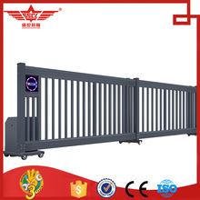 Automatic single row sliding gate design of security gates