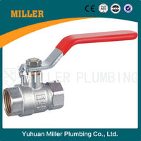 forged lever iron handle male thread copper ball brass body control valve nipple full port BSP PN 40 cw617n brass ball valve