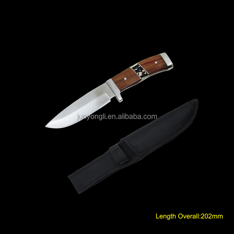Fixed blade Knife with wooden Handle