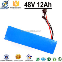 hot new products for 2015 Competitive price PVC case lithium deep cycle battery 48v 12ah for electric bike electric scooter