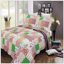 Cheap widely used hotel queen size patchwork bedspreads