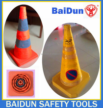 Collapsible traffic cone /safety road cone 320, 400, 450, 550, 620, 700mm with LED light
