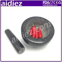 Natural Granite Mortar And Pestles For Hot Sale