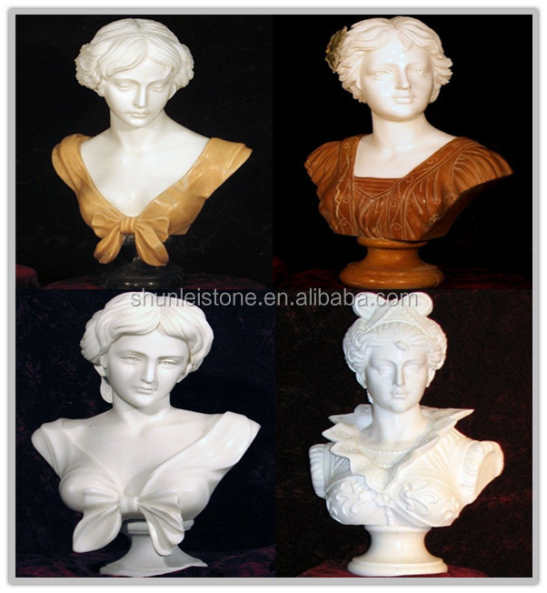 antique Greek marble bust statue