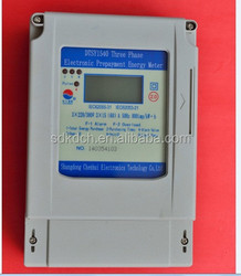 three pahse transparent cover electric meter for digital