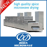 continuous high quality spice microwave drying