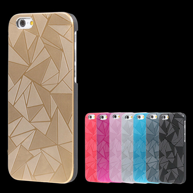 Newest design luxury water cube pc+aluminum metal hybrid case cell phone case for iphone 6 6 plus case