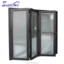 NAFS 2011 aluminum frame glass door double glazed aluminium bi fold doors