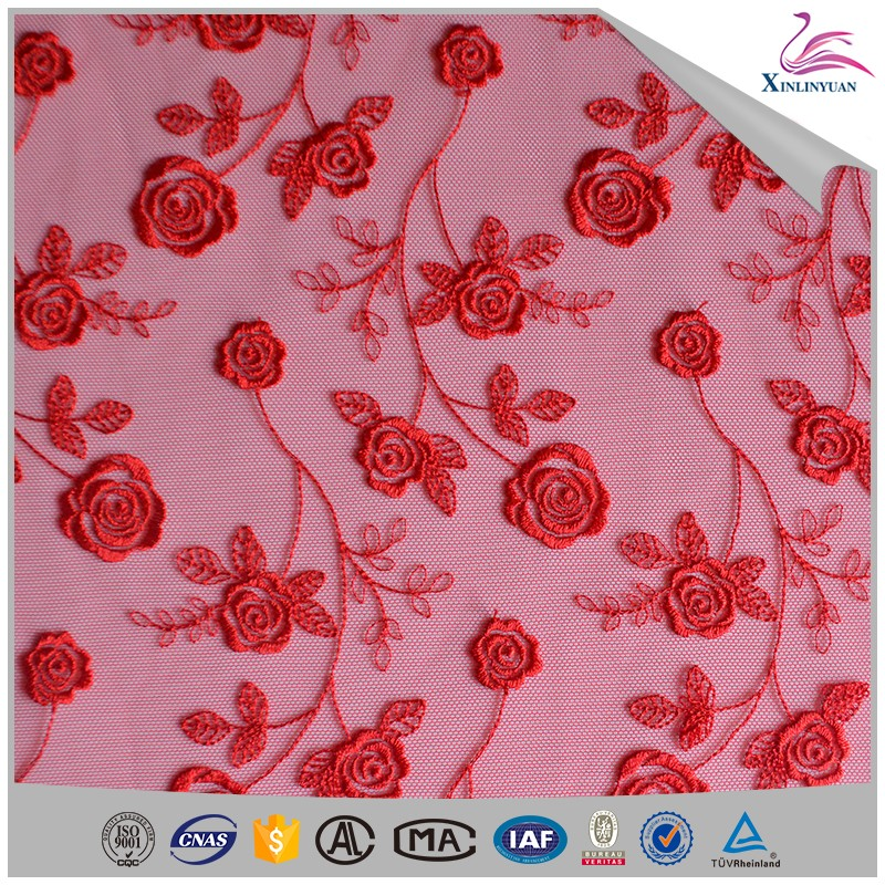 Low moq eyelet embroidery lace fabric with holes