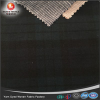 In-stock yarn dyed poly rayon woven check TR fabric for fashion shirt