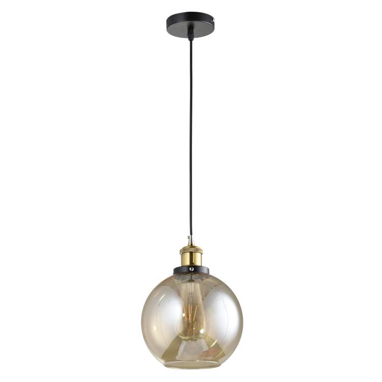 OEM Industrial style glass indoor decorative bar coffee pendant <strong>light</strong>