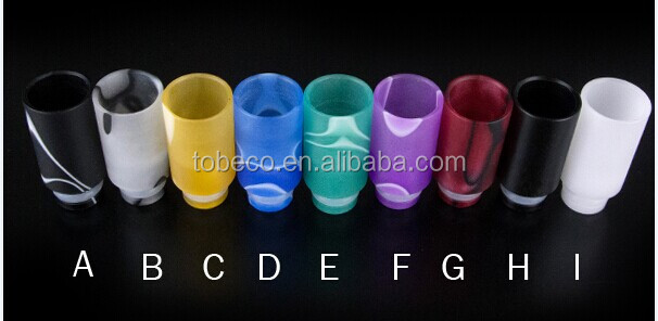 Wholesale price Teflon wide bore drip tips with white/black color