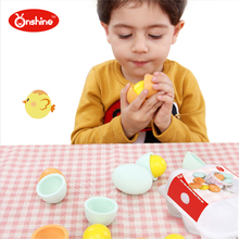 2016 new design Eggs And Duck Eggs Set Wooden Simulation Egg Toy