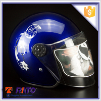 High market applicability stylish blue motorcycle helmet from China