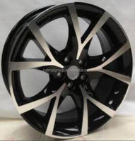 PCD 5x100 SIZE 17*7.0 silver car aluminum alloy wheel rim