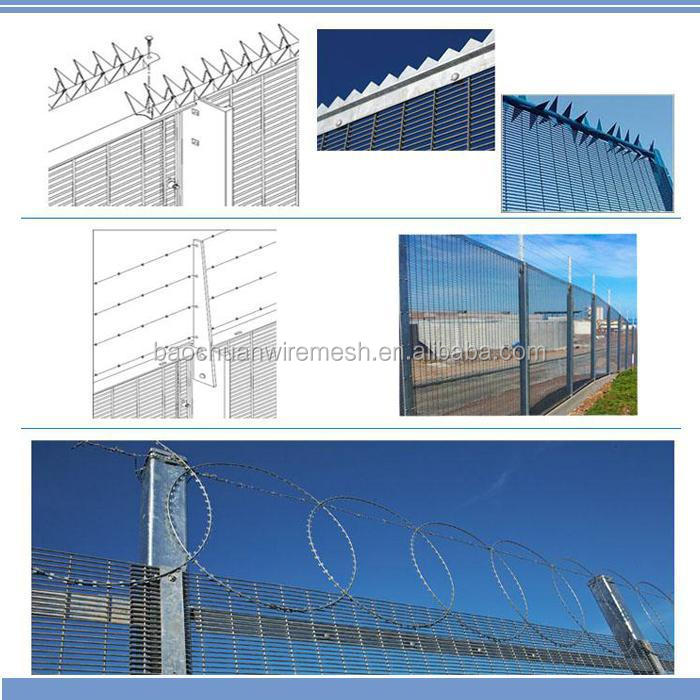 Best quality mesh 76.2mm*12.7mm hot dip galvanized high security fence, 358 security fence, prison high security fence