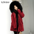 CX-G-P-20A High Quality Real Fox Fur Parka Women/ Ladies Parka Female Real Fur Coat