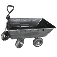 4 Wheels Plastic Garden Trailer Tool Cart heavy duty dump cart dump wagon