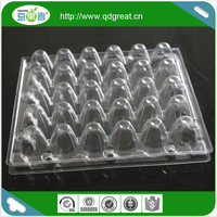 Manufacture sale PET PP Egg tray packing plastic quail egg tray 4/6/8/10/12/15/18/24/30 eggs