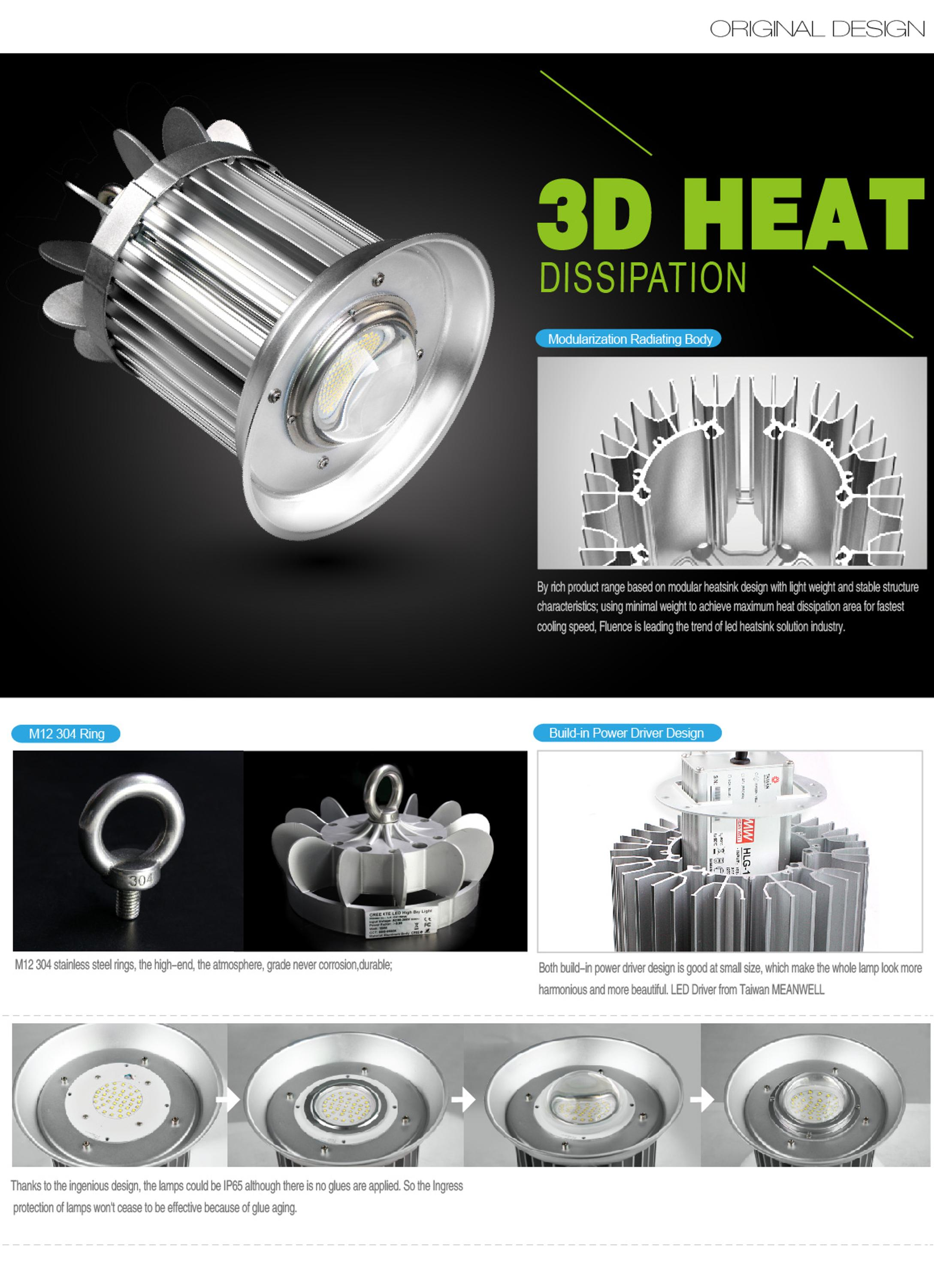 new products 2017 UL certification 200w industry led high bay light