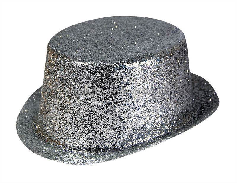 Charming Top Sale Promotional Sliver Glitter Sequin Funny Plastic Party Halloween Hat CH4131