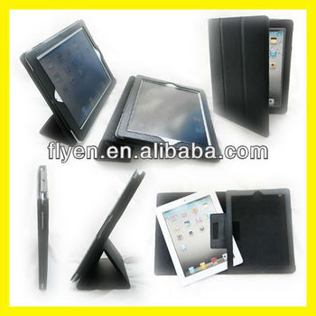 Trifold Slim Black For Apple iPad 4 3 2 Folding Case Magnetic Smart Case Cover Sleep Wake Wholesale Good Price