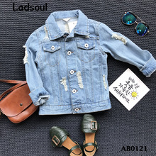 2017 Wholesaler Spring New Fashion Baby Clothes Embroidery Kids Denim Jacket