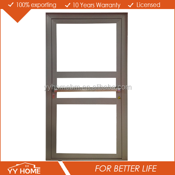 Energy saving high standards aluminum hinged door double panel door/aluminium exterior french doors and windows