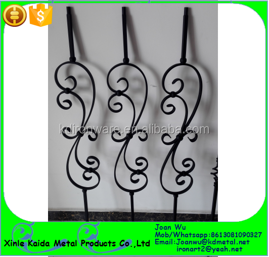 Satin Black Powder Coated Wrought Iron S Scroll Balusters Available
