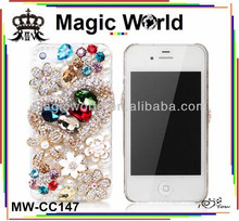 2014 fashion glitter crystal mobile rhinestone phone case