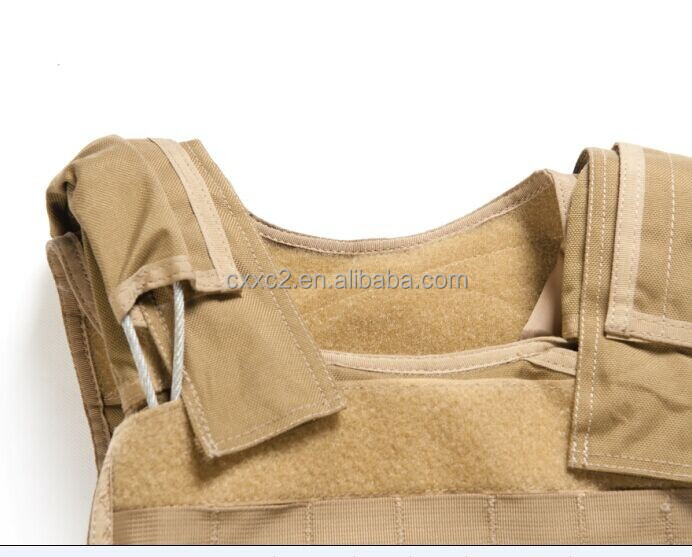 Tan Nylon Army bulletproof Tactical Military Vest