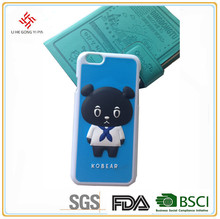 Custom 3d rubber hard plastic cell phone case for mobile phone accessory
