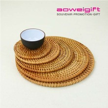 Eco Friendly Handmade Insulation Table Mat Cup Holder Rattan Coasters