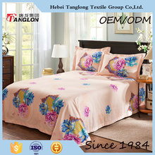 High quality twill reactive print low price bedsheets and flower design luxury low price bedsheets bedsheet and quilt cover