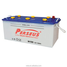 Power starting battery N150 dry battery 12v 150ah with price