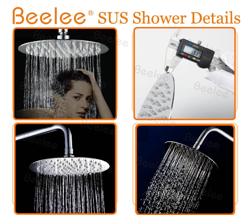 Ultra Thin Stainless Steel Wall Mounted Water Saving Rain Bathroom Shower Head
