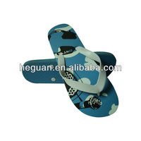 China factory manufacture beach flip flops silk printing sole