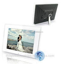 "Special Design New Multi-functional 12"" White LCD Digital Photo Picture Frame Display Wide Screen with MP3/MP4 Player Function"
