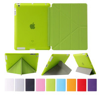 Ultra Slim Flip Smart Case Transformers Back Cover Case for iPad 234/ 5 6 Air1 2 Mini 2 3 4 Coque Sleep Stander Function