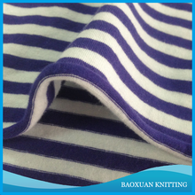 95 Cotton 5 spandex C/SP yarn dyed colour purple striped single jersey fabric stretch knit for shirt