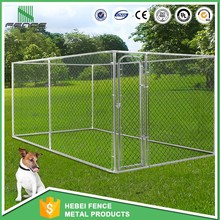 Professional customized galvanized cheap chain link dog kennels / large dog fence