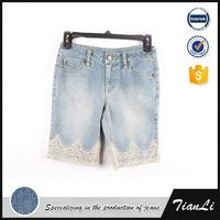 Slim fit girls tight comfortable denim shorts