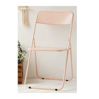 Outdoor Garden Metal Square hole Folding Chair