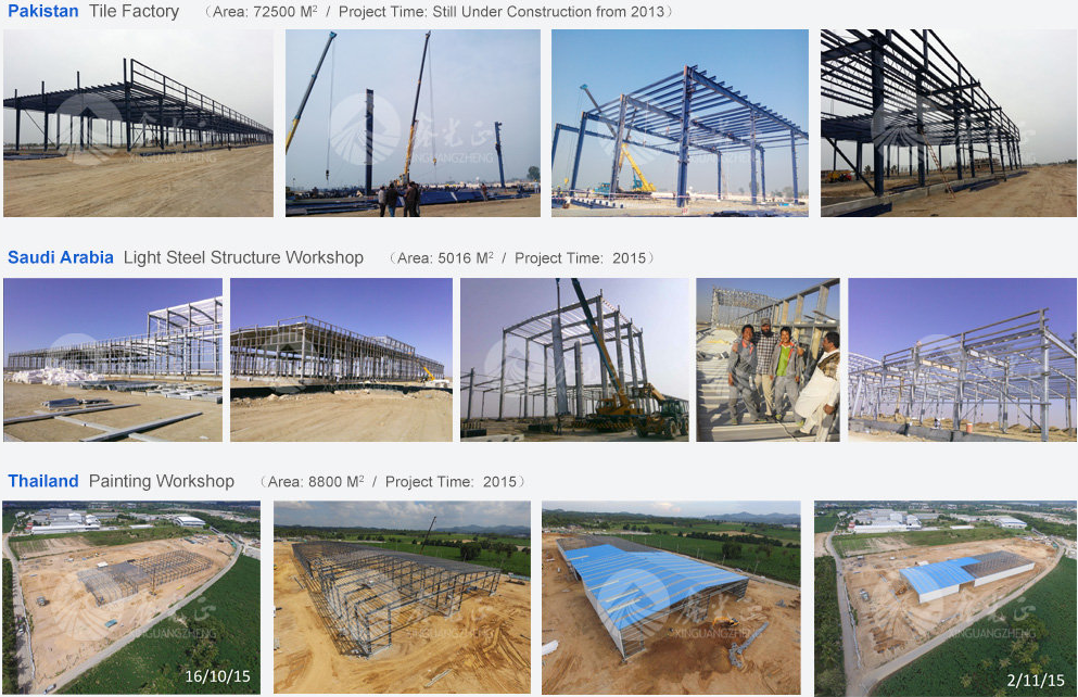 CE certification steel structure house/structural building in China XGZ Group steel structure facbrication