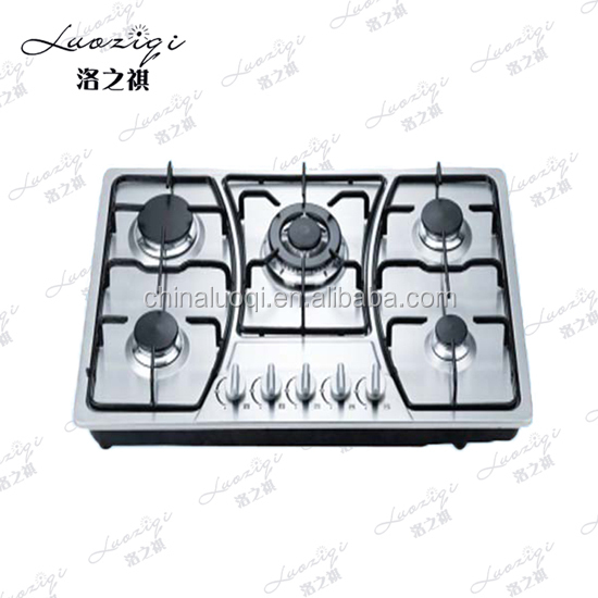 2016 Home kitchen appliances blue flame 5 burner gas stove