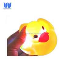 Waterproof light up baby bath toy flashing led duck
