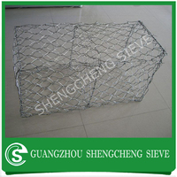 Retaining wall gabion mesh wire cages rock wall from China