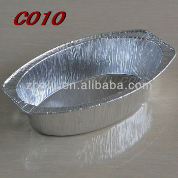 Zhongbo Oval food aluminum container 540ml