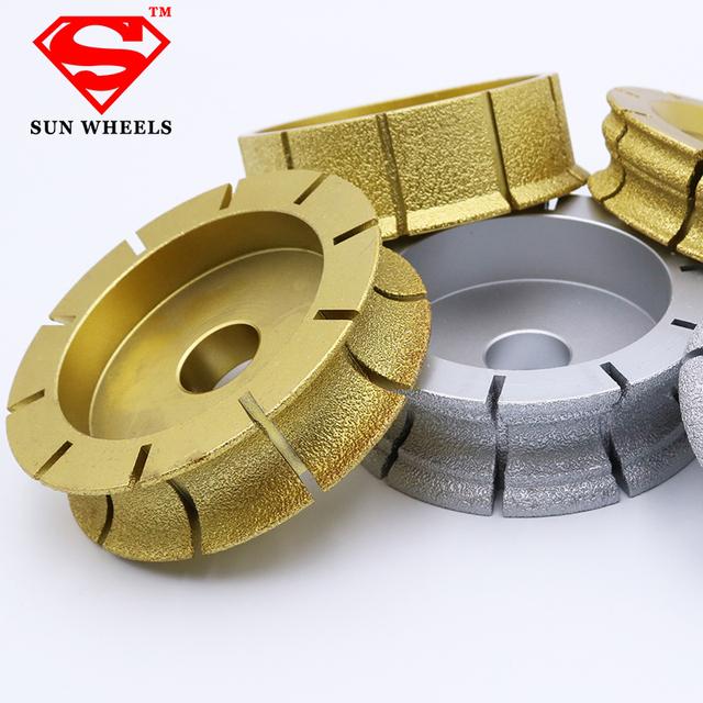 140mm different shape brazed diamond profile grinding wheels for stone